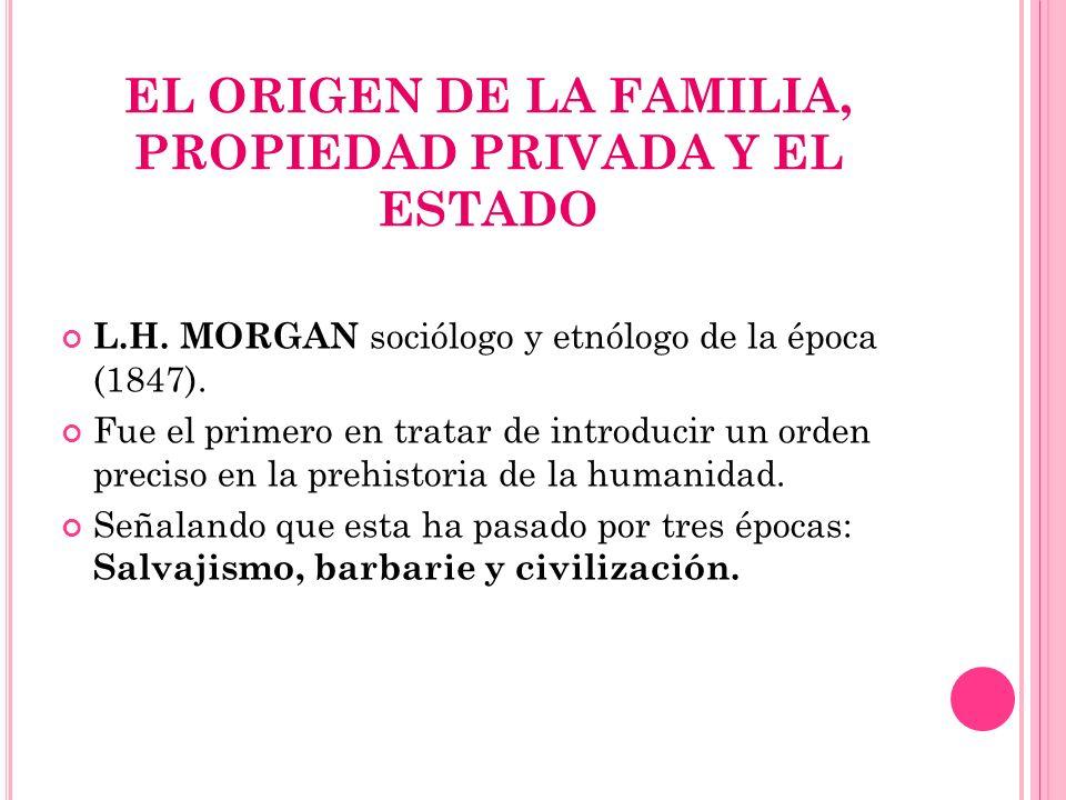 EL ORIGEN DE LA FAMILIA, PROPIEDAD PRIVADA Y EL ESTADO