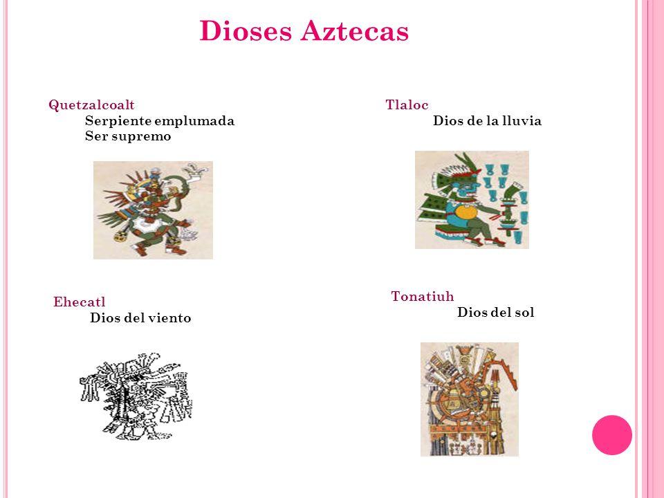 Dioses Aztecas Quetzalcoalt Serpiente emplumada Ser supremo Tlaloc