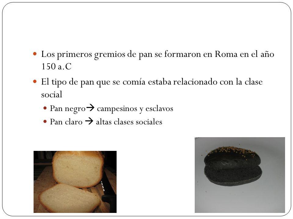 Los primeros gremios de pan se formaron en Roma en el año 150 a.C