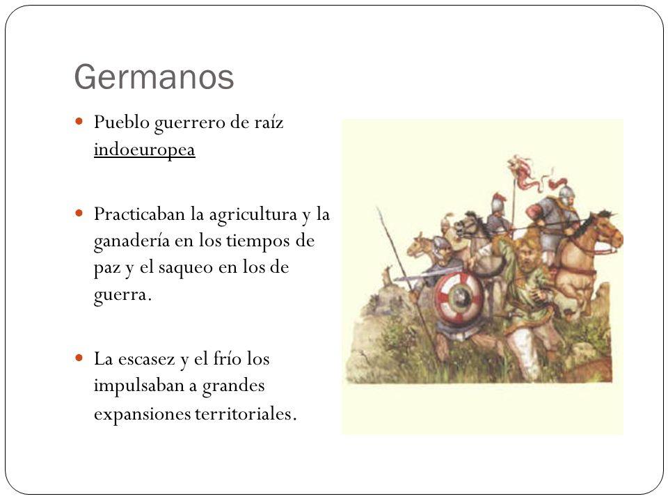 Germanos Pueblo guerrero de raíz indoeuropea