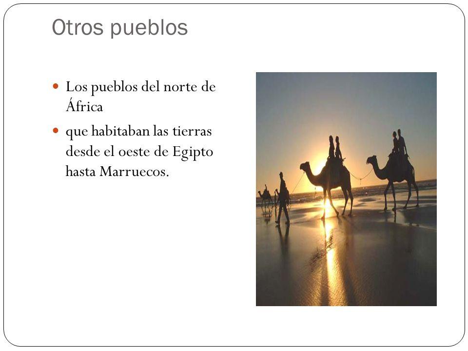Otros pueblos Los pueblos del norte de África