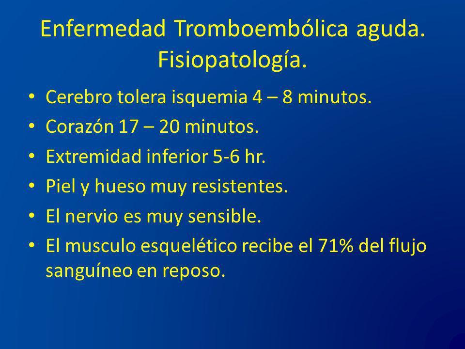 Enfermedad Tromboembólica aguda. Fisiopatología.