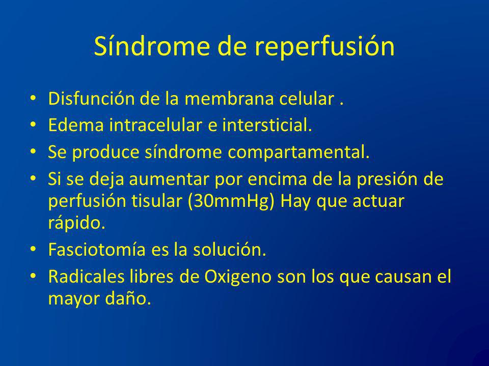 Síndrome de reperfusión