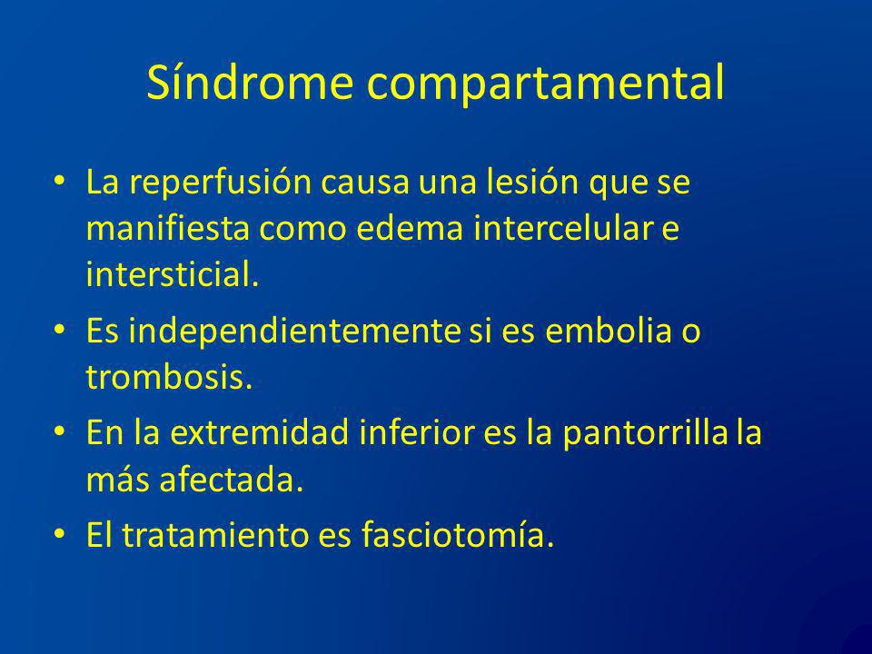 Síndrome compartamental