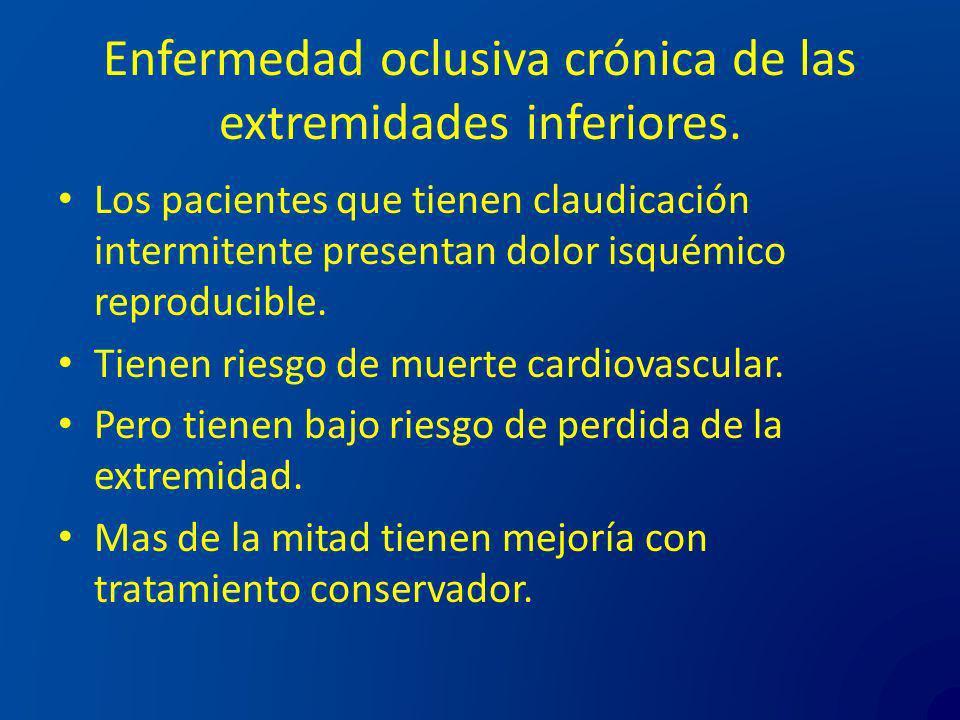 Enfermedad oclusiva crónica de las extremidades inferiores.