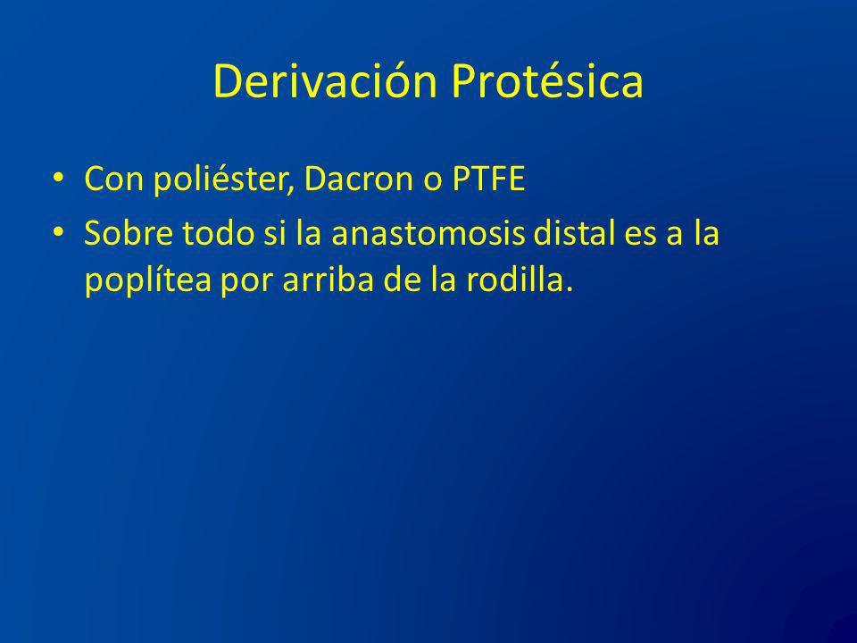 Derivación Protésica Con poliéster, Dacron o PTFE