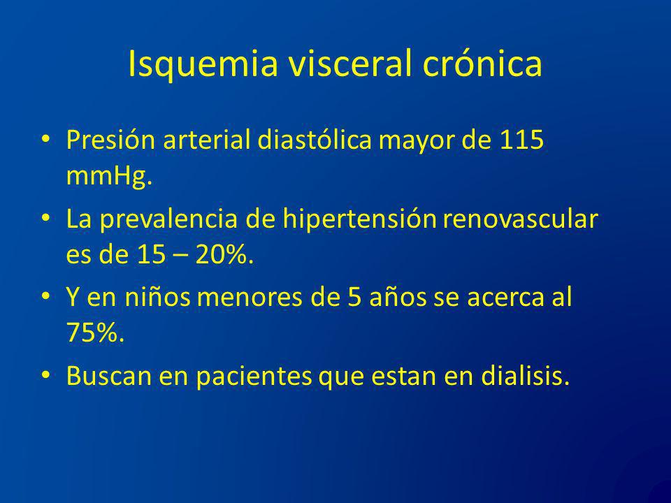 Isquemia visceral crónica