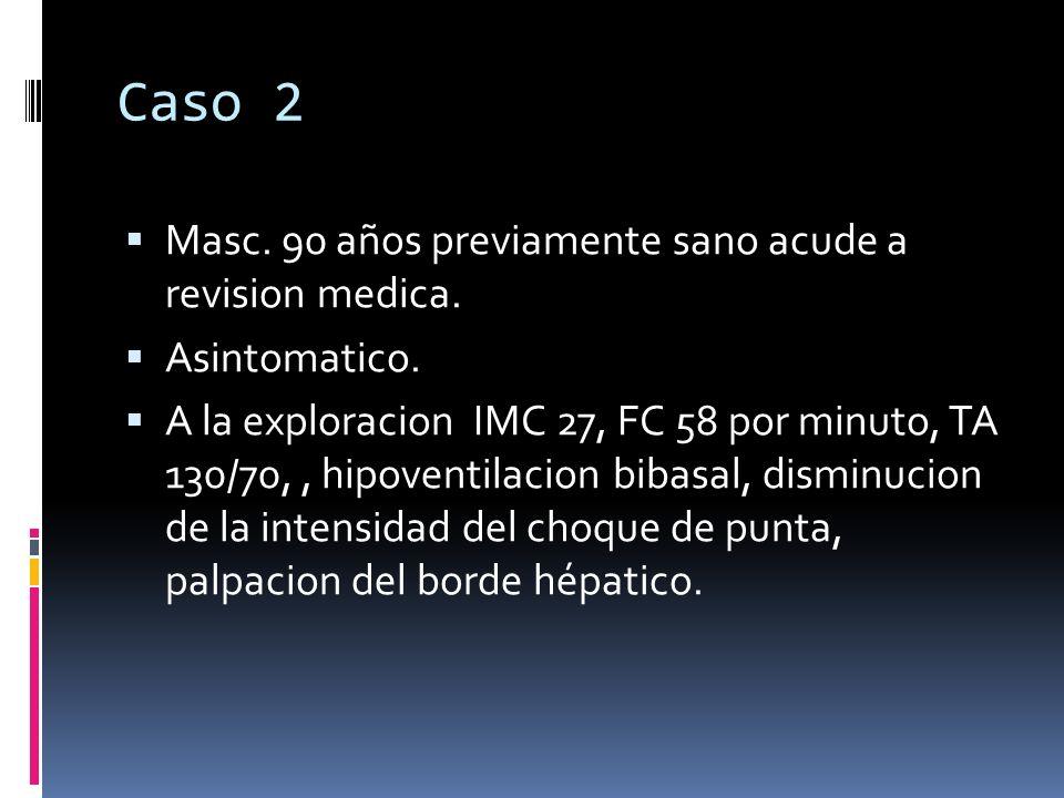 Caso 2 Masc. 90 años previamente sano acude a revision medica.