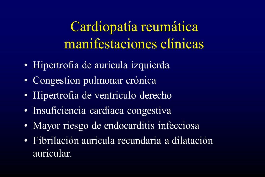 Cardiopatía reumática manifestaciones clínicas