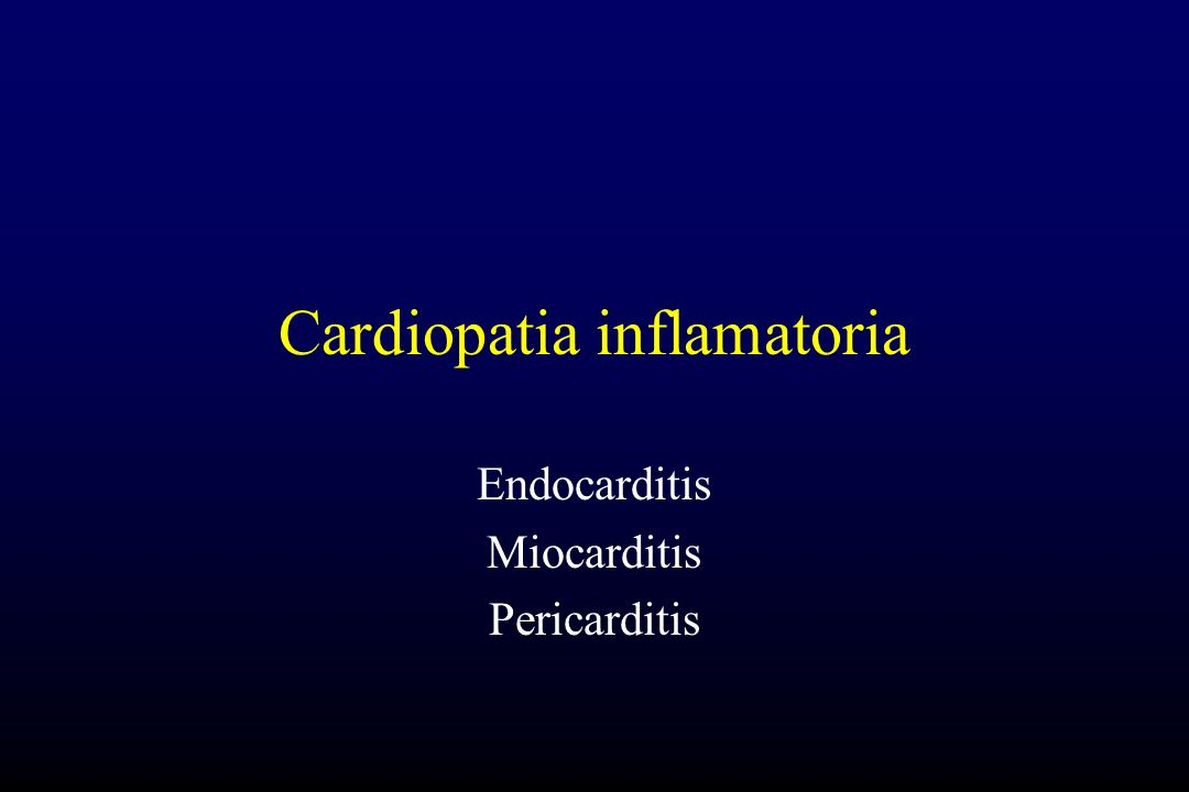 Cardiopatia inflamatoria
