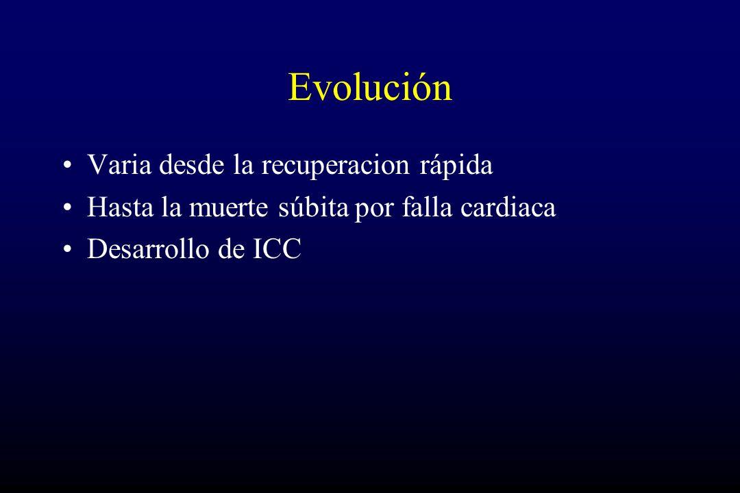 Evolución Varia desde la recuperacion rápida
