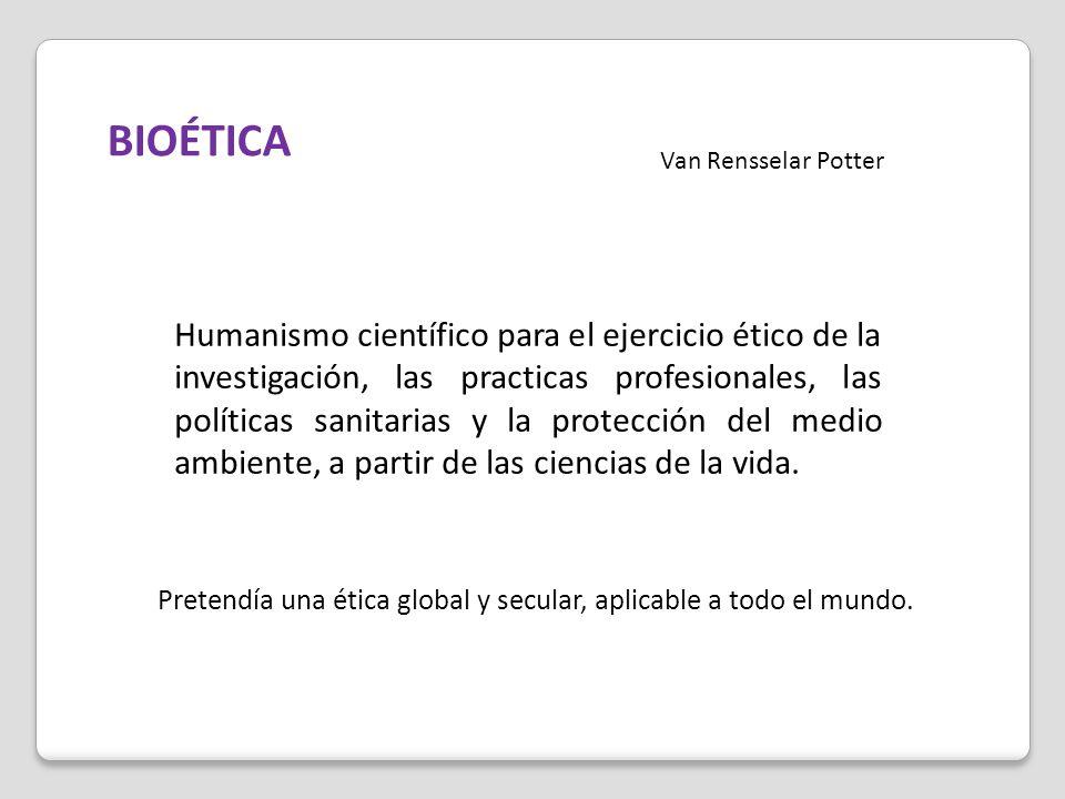 BIOÉTICA Van Rensselar Potter.