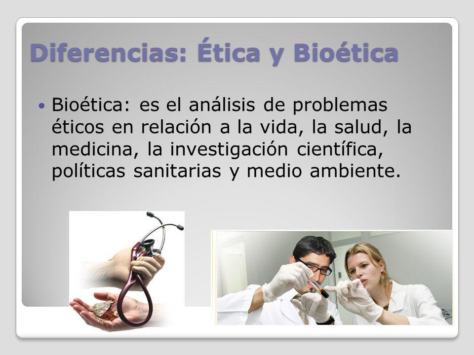 Diferencias: Ética y Bioética