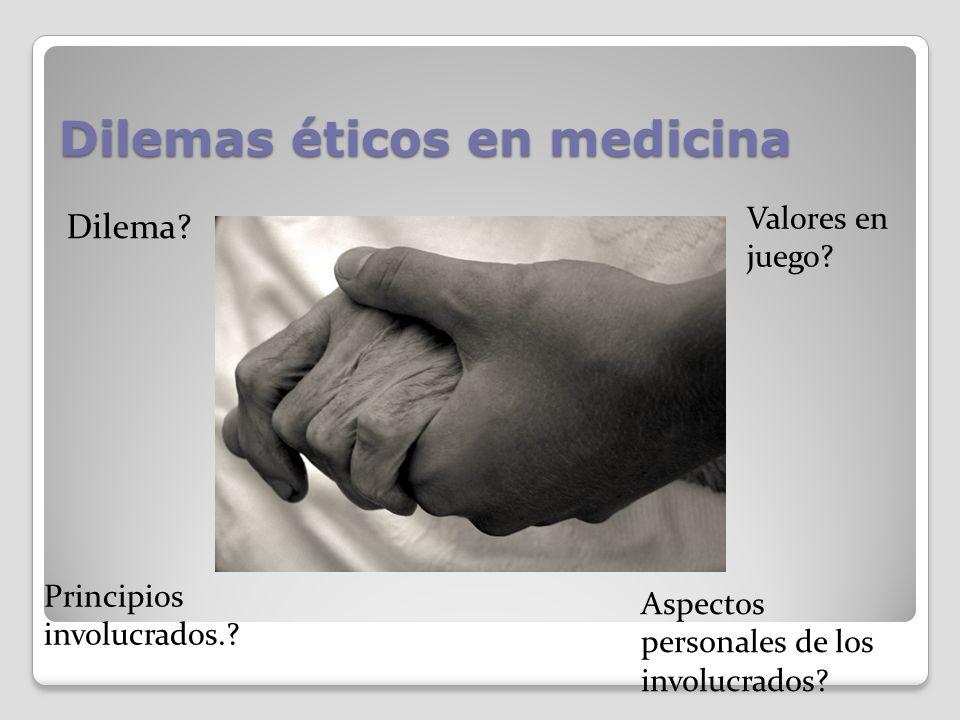 Dilemas éticos en medicina