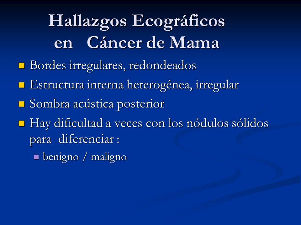 Hallazgos Ecográficos en Cáncer de Mama