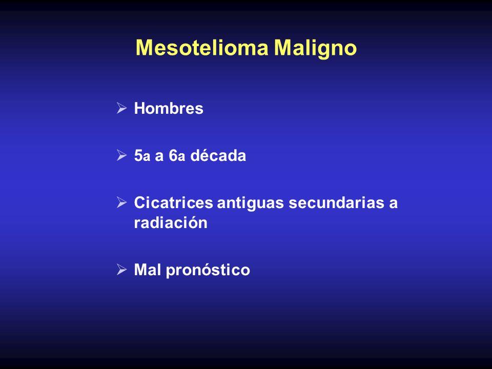 Mesotelioma Maligno Hombres 5a a 6a década