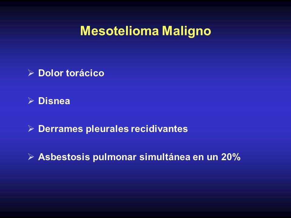 Mesotelioma Maligno Dolor torácico Disnea