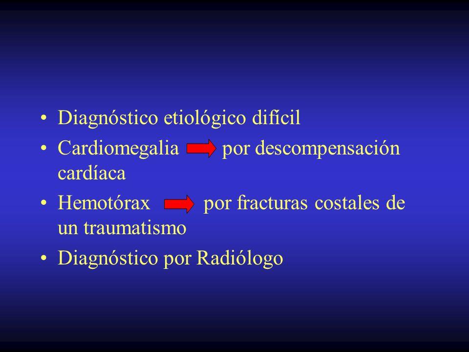 Diagnóstico etiológico difícil