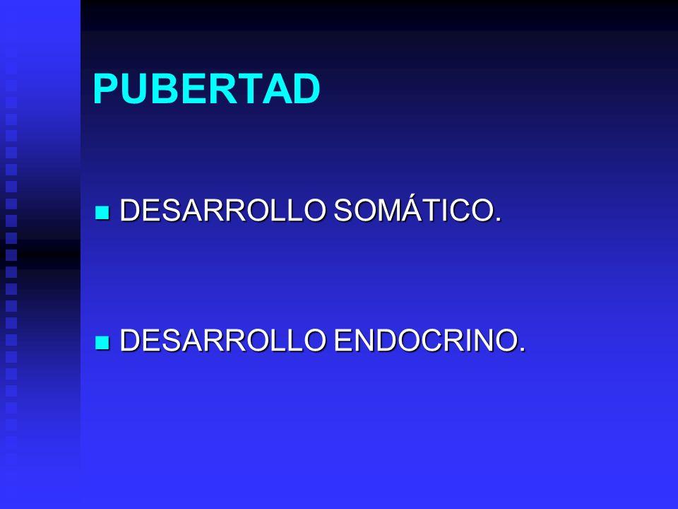 PUBERTAD DESARROLLO SOMÁTICO. DESARROLLO ENDOCRINO.