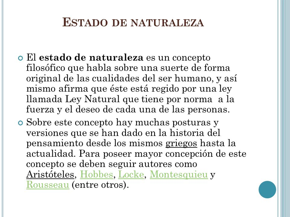 Estado de naturaleza