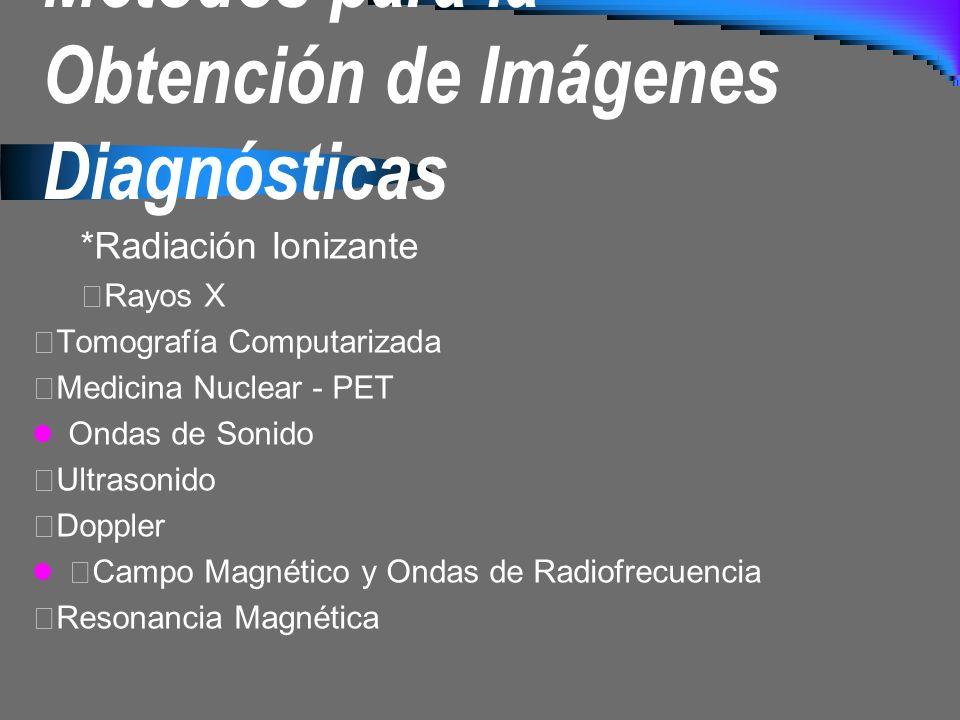 Métodos para la Obtención de Imágenes Diagnósticas