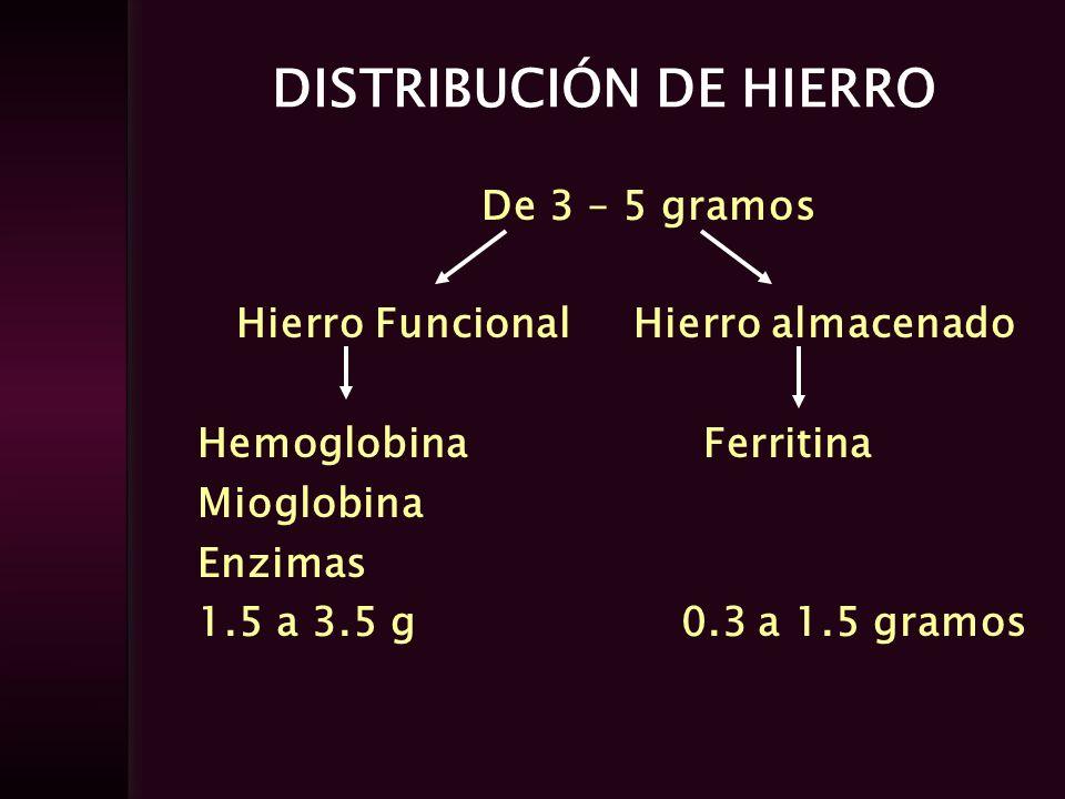 DISTRIBUCIÓN DE HIERRO
