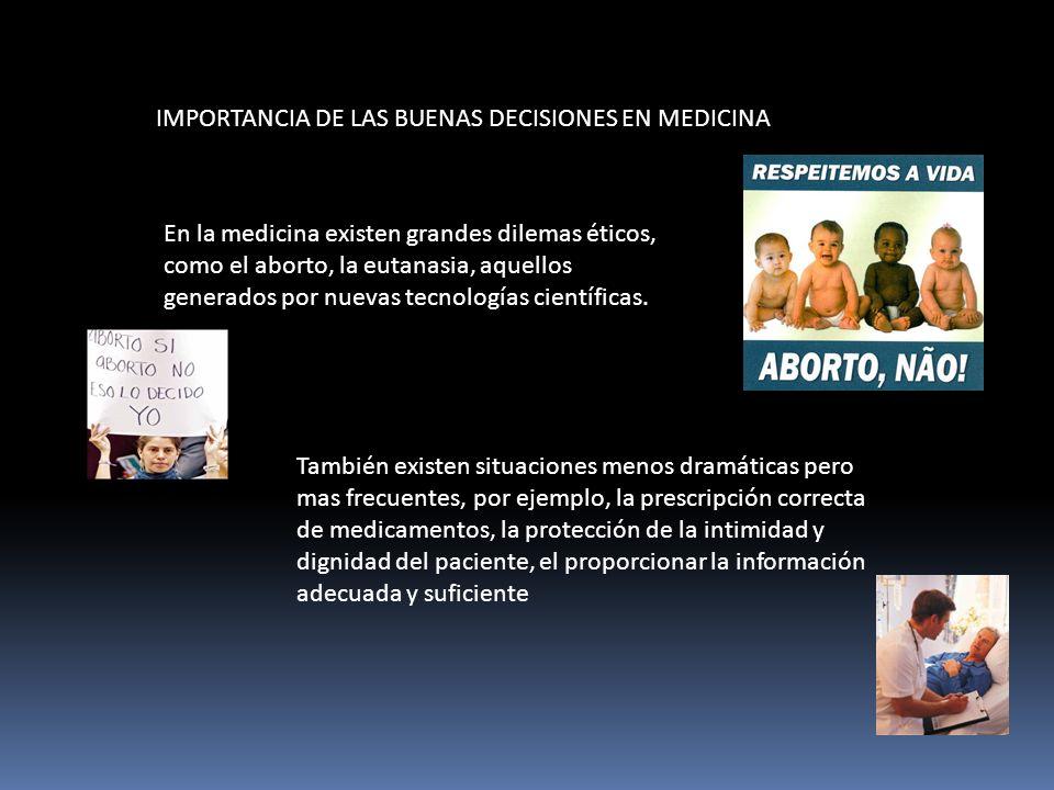IMPORTANCIA DE LAS BUENAS DECISIONES EN MEDICINA