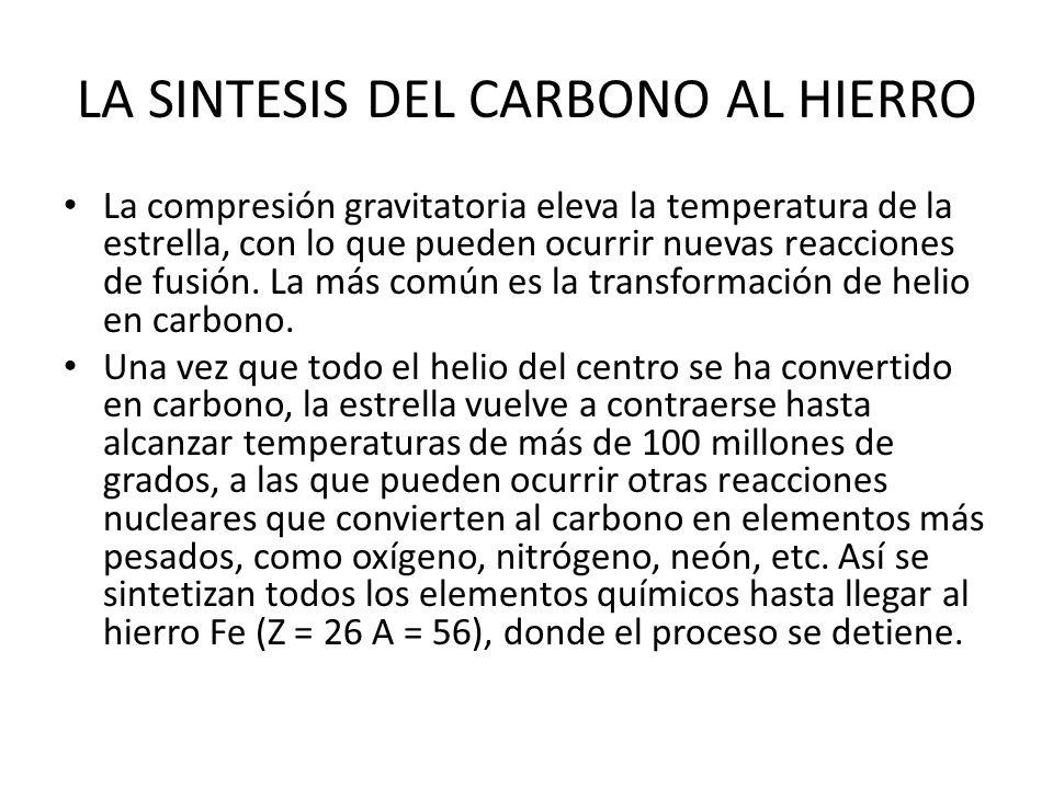 LA SINTESIS DEL CARBONO AL HIERRO