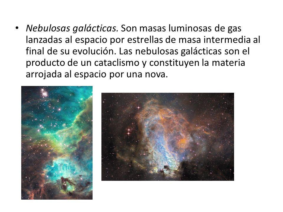 Nebulosas galácticas.