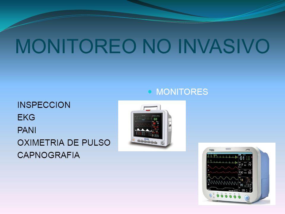 MONITOREO NO INVASIVO INSPECCION EKG MONITORES PANI OXIMETRIA DE PULSO