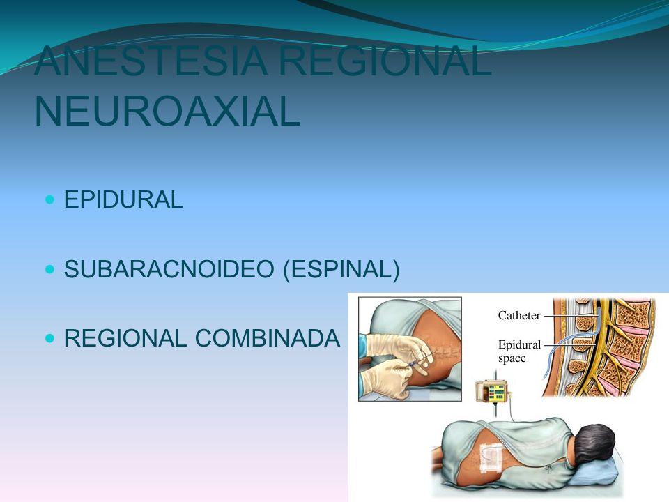 ANESTESIA REGIONAL NEUROAXIAL
