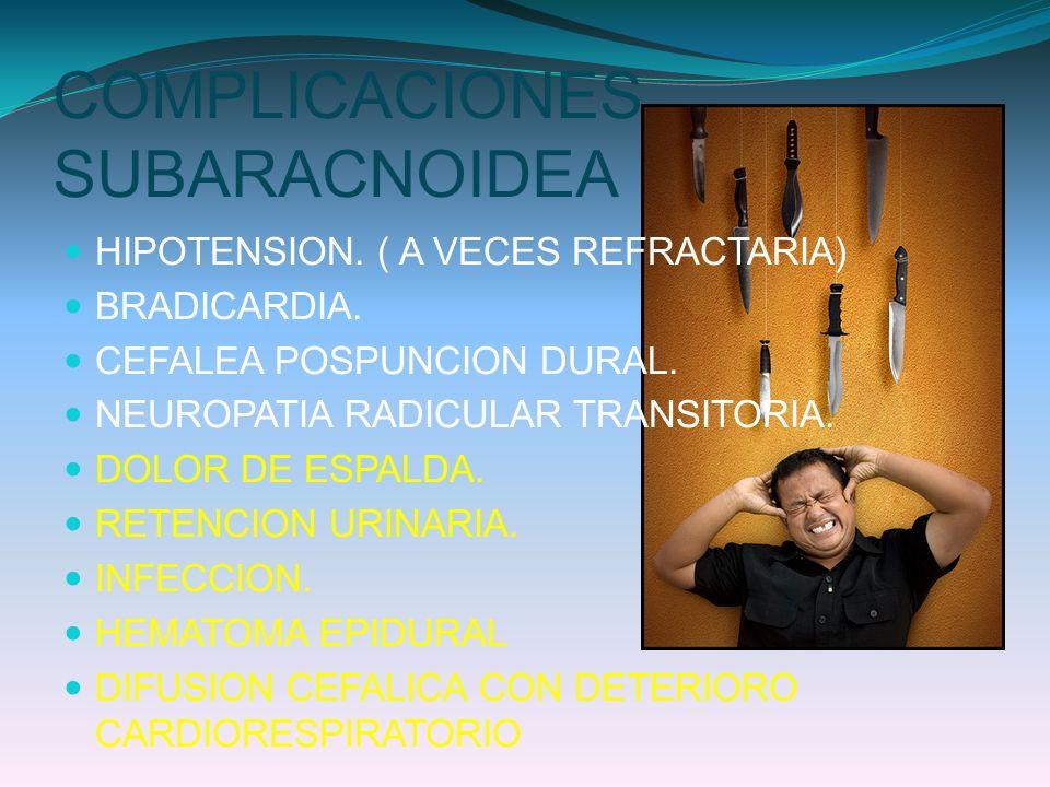 COMPLICACIONES SUBARACNOIDEA
