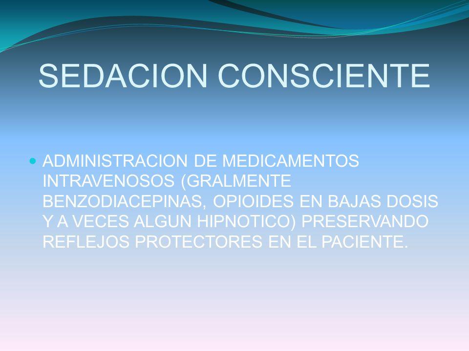 SEDACION CONSCIENTE