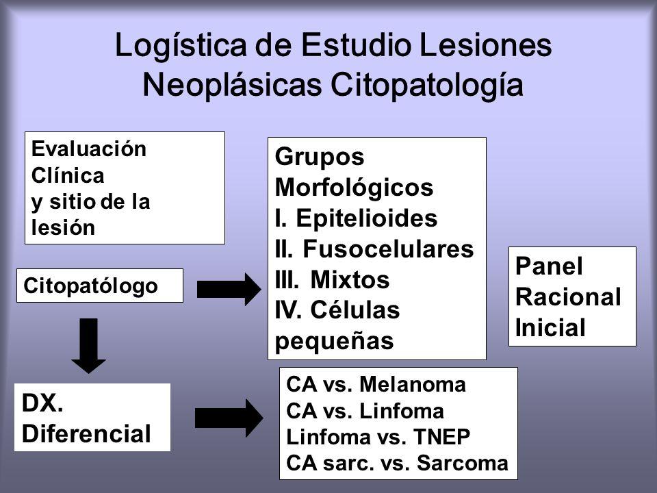 Logística de Estudio Lesiones Neoplásicas Citopatología