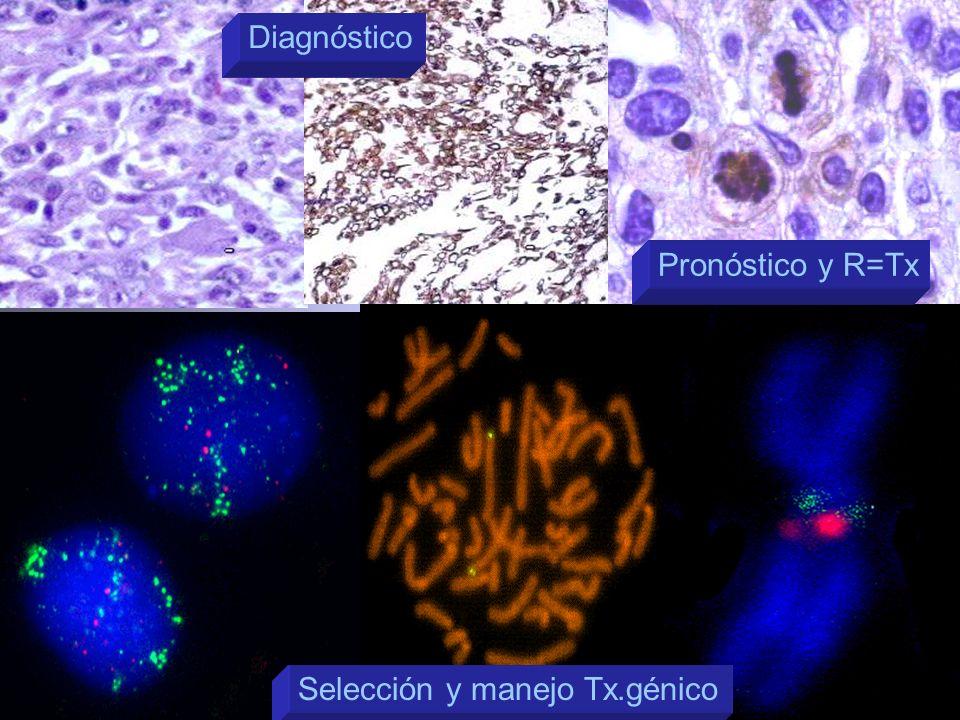 Diagnóstico Pronóstico y R=Tx Selección y manejo Tx.génico