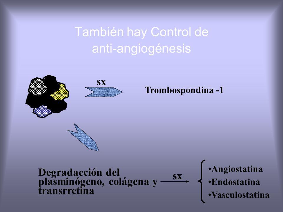 También hay Control de anti-angiogénesis