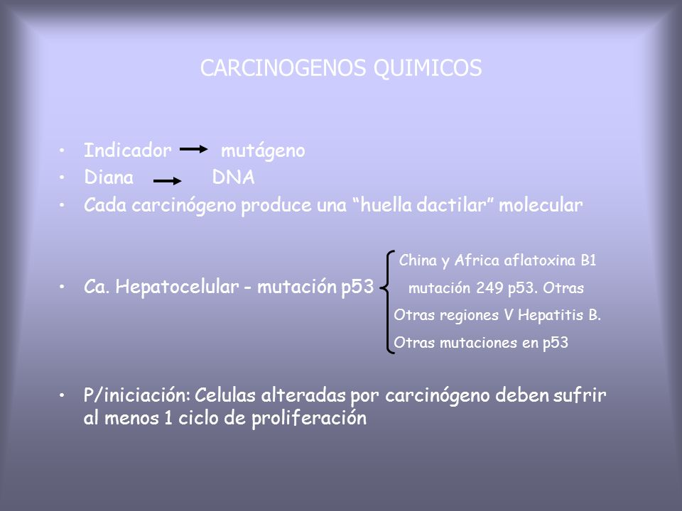 CARCINOGENOS QUIMICOS