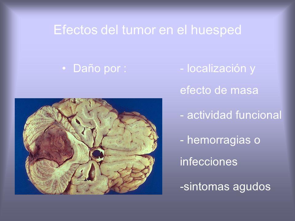 Efectos del tumor en el huesped