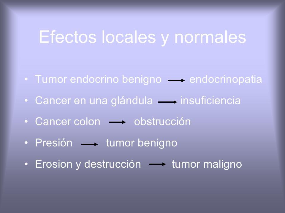 Efectos locales y normales