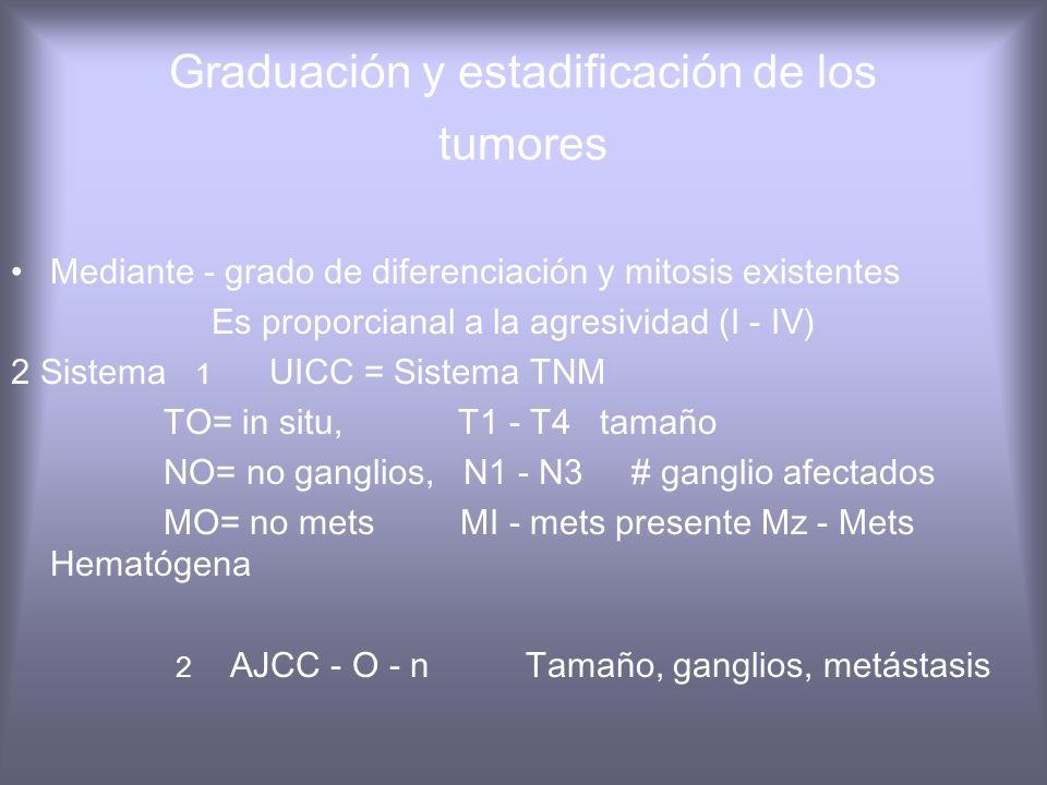 Graduación y estadificación de los tumores
