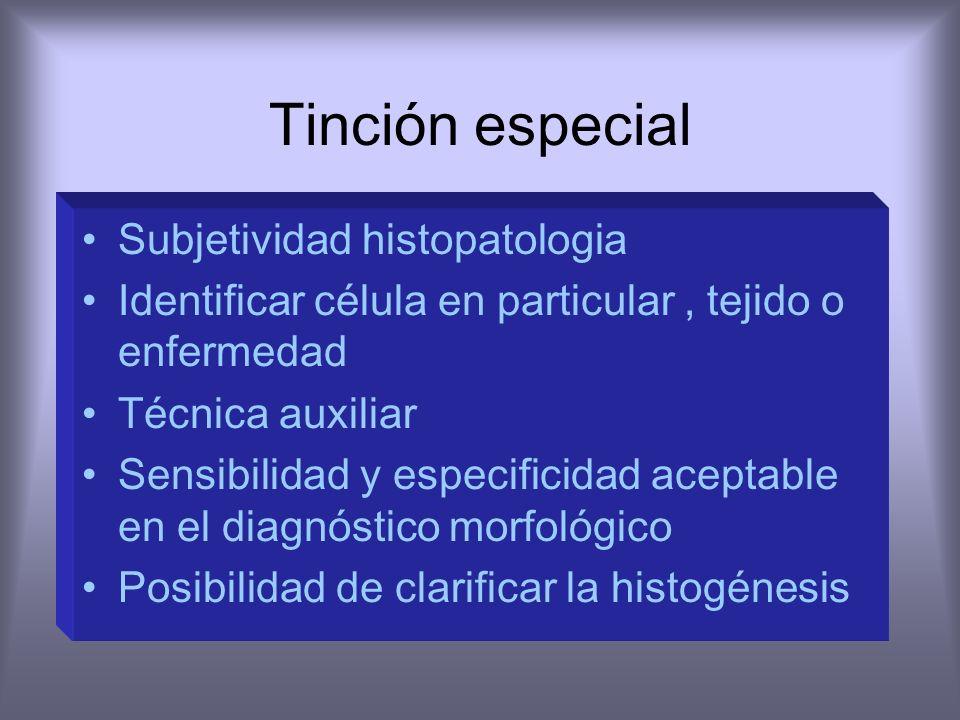 Tinción especial Subjetividad histopatologia