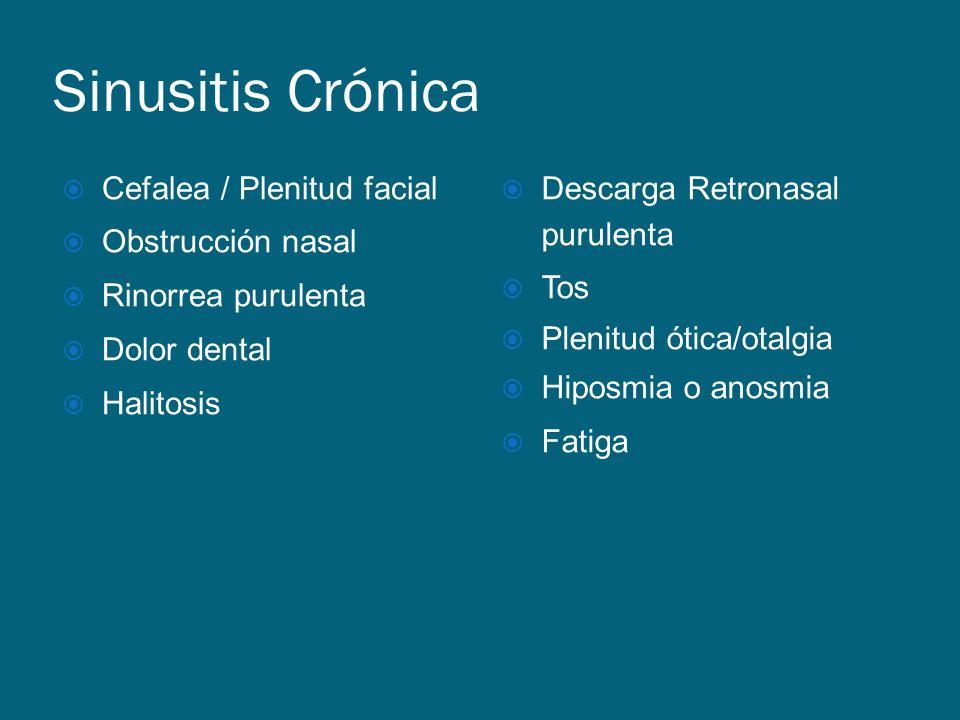 Sinusitis Crónica Cefalea / Plenitud facial Obstrucción nasal