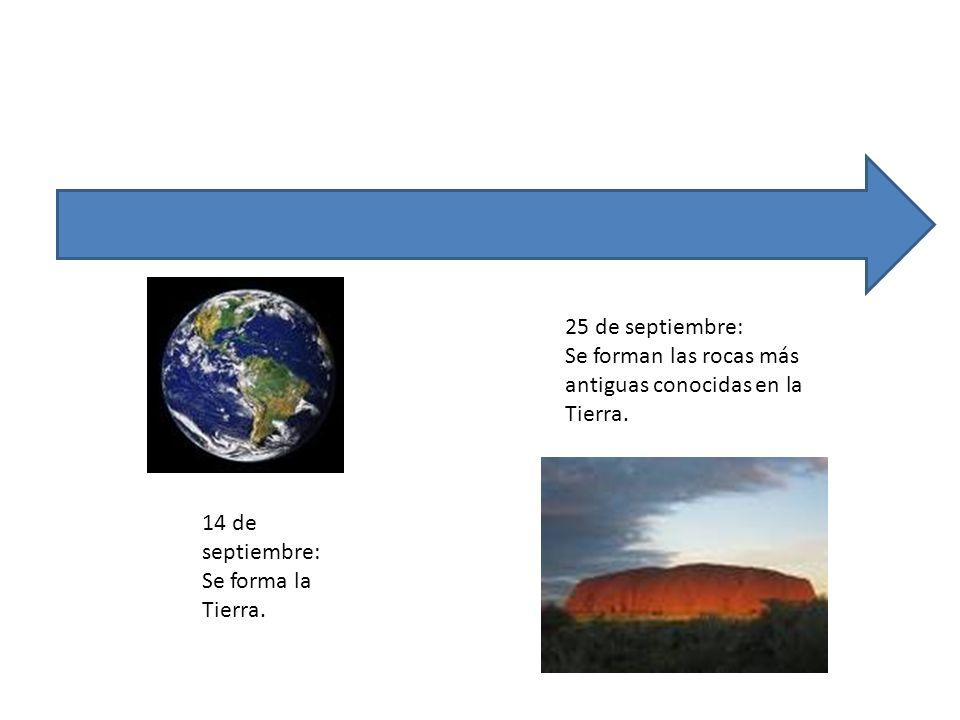 25 de septiembre: Se forman las rocas más antiguas conocidas en la Tierra.