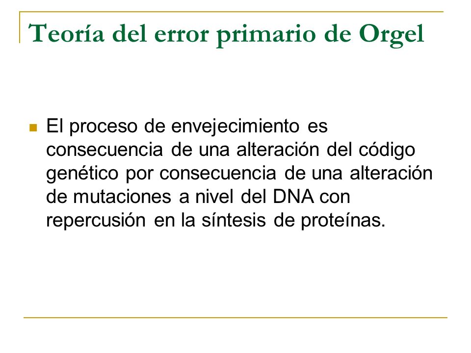 Teoría del error primario de Orgel