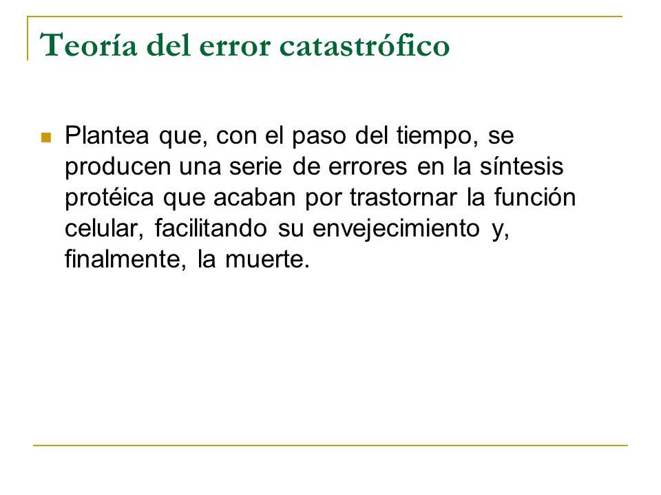 Teoría del error catastrófico