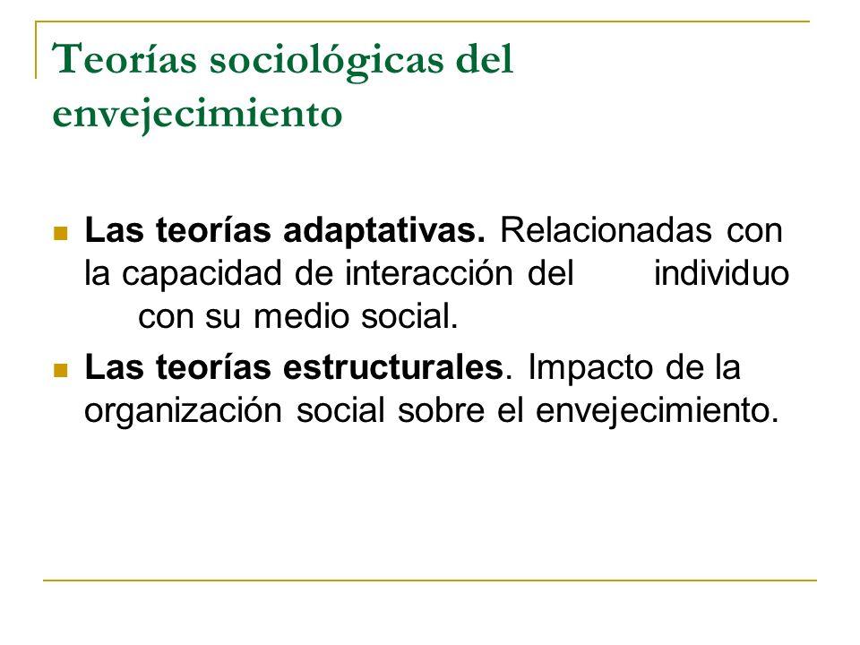 Teorías sociológicas del envejecimiento
