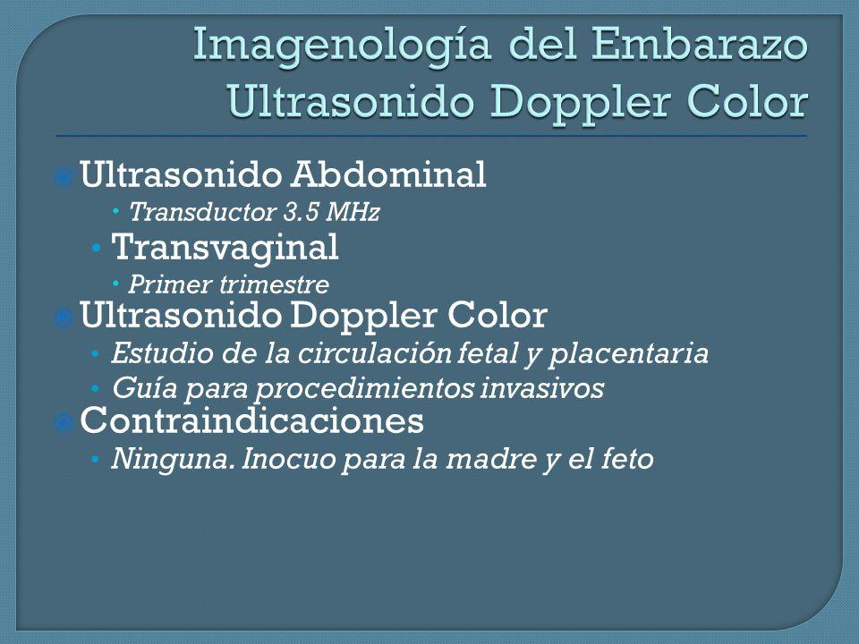 Imagenología del Embarazo Ultrasonido Doppler Color