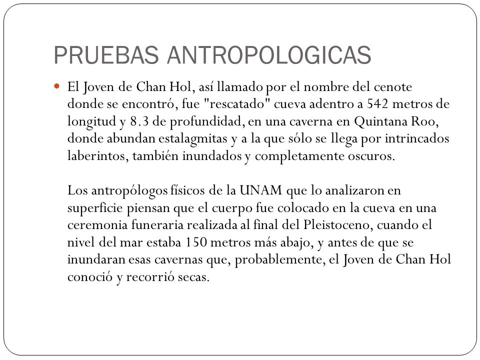 PRUEBAS ANTROPOLOGICAS