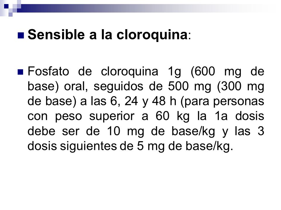 Sensible a la cloroquina: