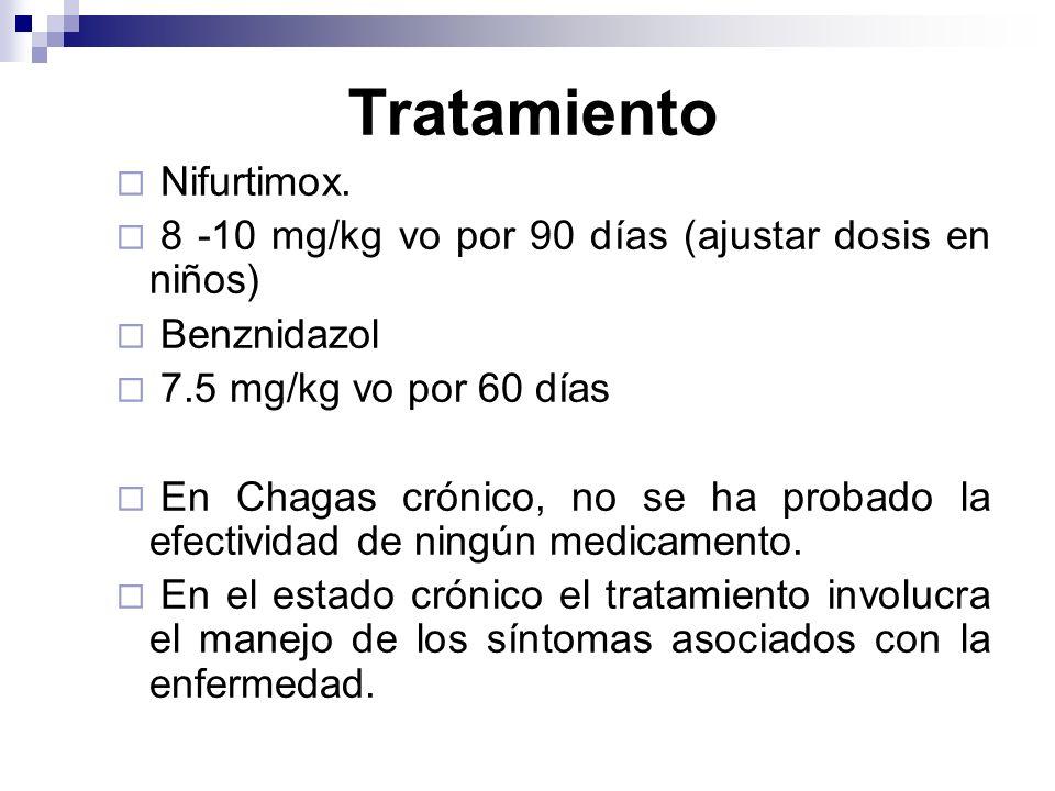 Tratamiento Nifurtimox.
